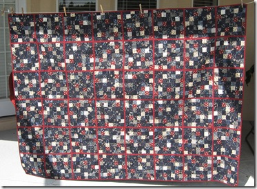 finished Japanese quilt