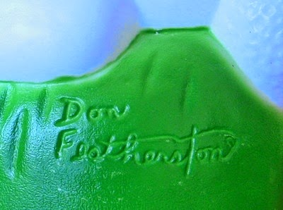 Don Featherstone Blow Mold Easter Bunny in white imprint