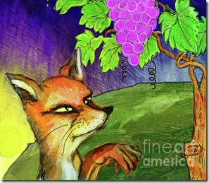 red-fox-and-grapes-shakila-malavige