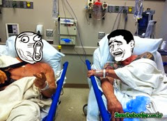 ONDE EU TÔ? NO HOSPITAL DE TANTO RIR DISSO!