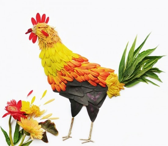 Pássaros de flores (9)