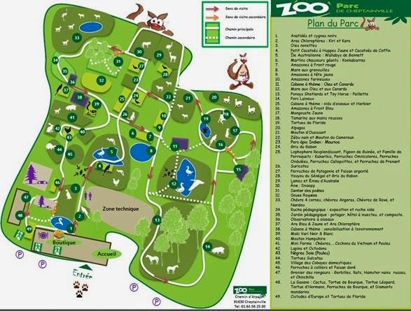zoo parc de cheptainville plan