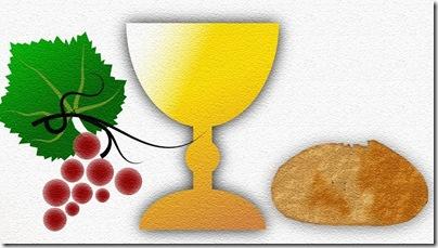 comunhao solene pao vinho
