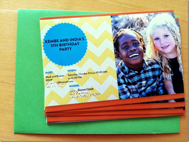 india and kembe evite printed birthday invitation