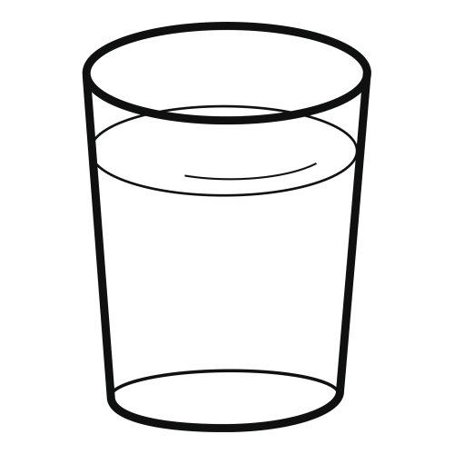 Vaso con agua para colorear - Imagui