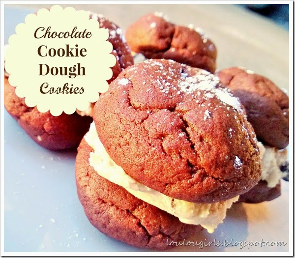 chocolate cookie dough cookies