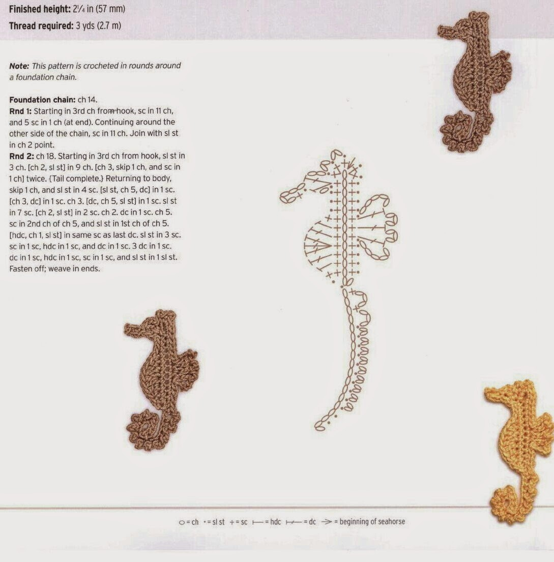 youngladieshome: Seahorse Crochet Pattern