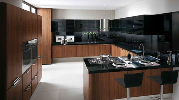 15 dise os de cocinas negras o en tonos oscuros idecorar for Cocinas modernas negras