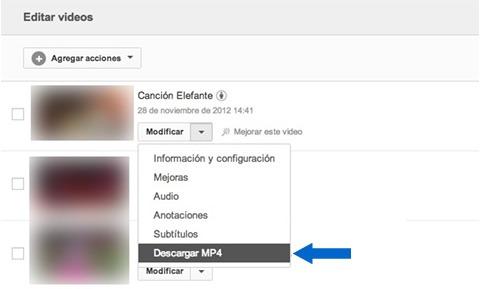 Descargar historial de videos publicados en tu cuenta de Youtube