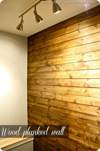 DIY wood planked wall