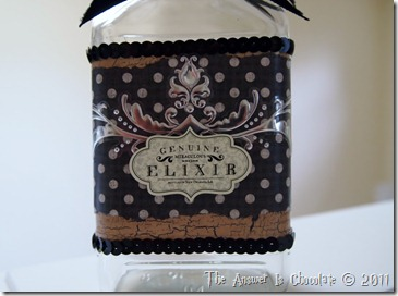 Altered Halloween Bottle Front