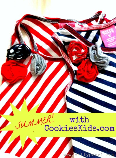 Stripes and Rosettes Summer Outfits from Cookies Kids