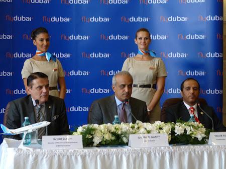 Fly Dubai la Bucuresti: conferinta de presa la Otopeni