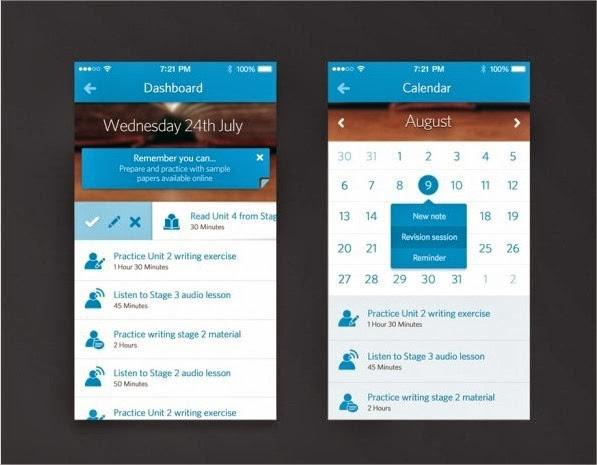 19 increíbles interfaces de aplicaciones móviles hechas para iOS 7 2