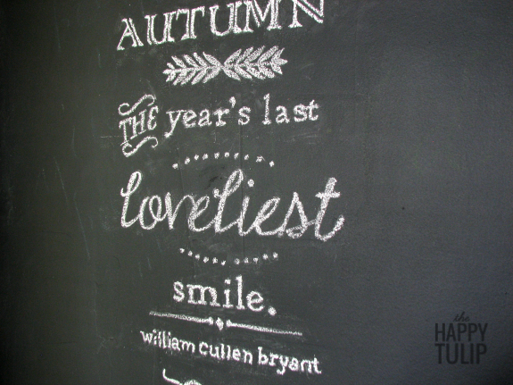 how to create a beautiful chalkboard design without needing great handwriting