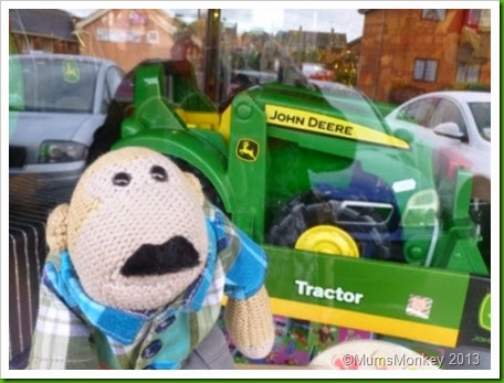 John Derre toy tractor