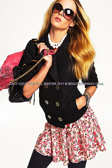 JUICY COUTURE Fall Winter 2011 Jacket and Flora Dress