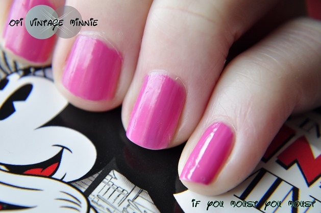 OPI vintage minnie collection disney if you moust you moust swatch