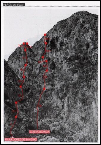 Peon de Ifach - Sur - Costa Blanca 250m 6c  (6b A0 Oblig) (Libro)