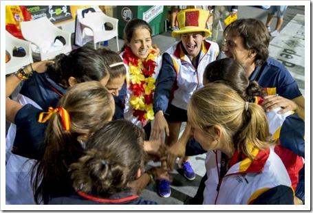 España (F) campeona del mundo 2014 por equipos en Palma de Mallorca. CELEBRACIÓN