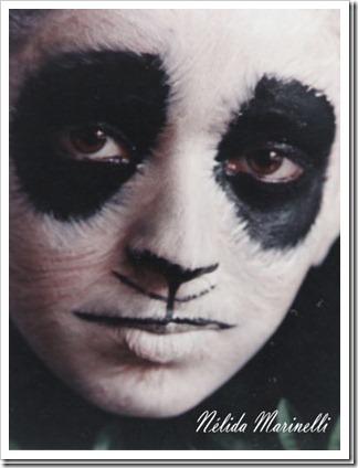 panda maquillaje halloween
