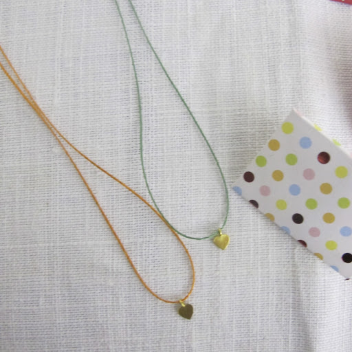 These sweet necklaces are made by Hannah.