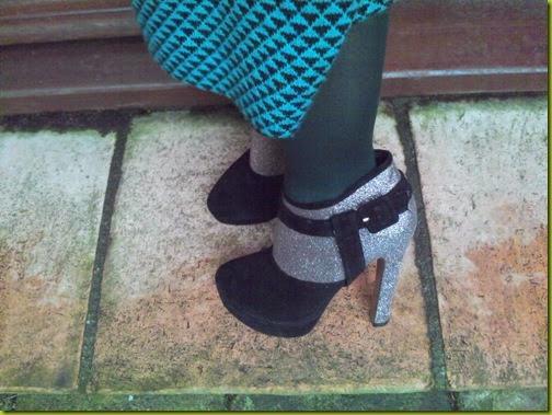platform glitter boots