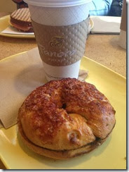 Panera Cinnamon Sugar Bagel