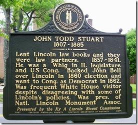 John Todd Stuart marker in Danville, Kentucky at Centre College (Side 2)