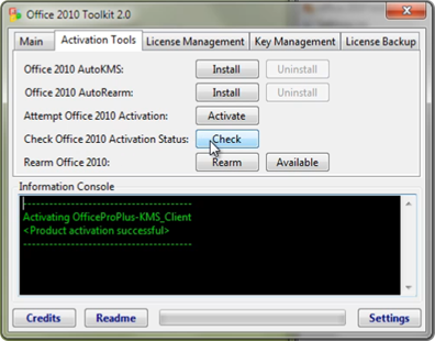 Office 2010 Activation