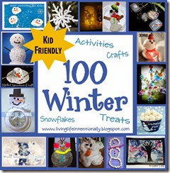 100 Wiunter Crafts, Kids Activiites, Snowflake Crafts, winter treats, and more! #play #kids #kidsactivities #wintercraftsforkids