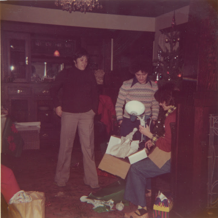 Christmas eve party at Brenda Weathers and Nicki Toomey's house. 1975