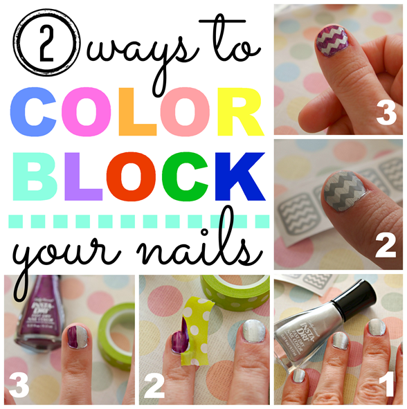 Two ways to color block your nails #IHeartMyNailArt