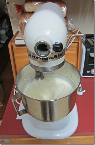 Whipping butter using a mixer