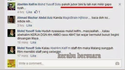 Seorang DJ Kelantan FM Tulis Perkataan Kurang Sopan Dalam FB?