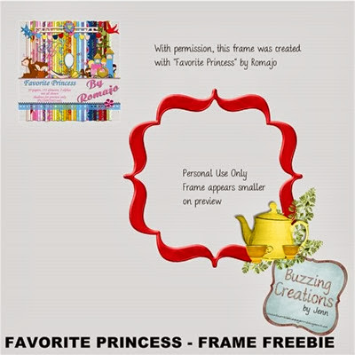Romajo - Favourite Princess - Frame Freebie Preview