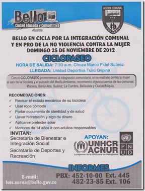 CicloPaseo Bello Nov 25 2012
