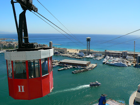 Things to do in Barcelona: ride the Barcelona cable car from Barceloneta to Mont Juic