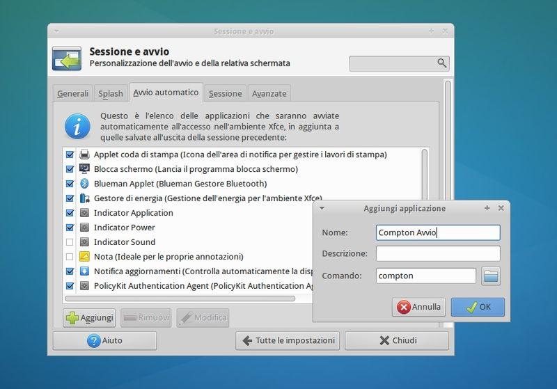 Xubuntu - avvio automatico Compton
