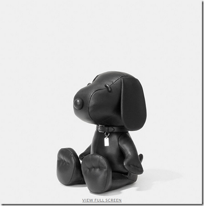 COACH X Peanuts small leather snoopy doll - USD 500 - black