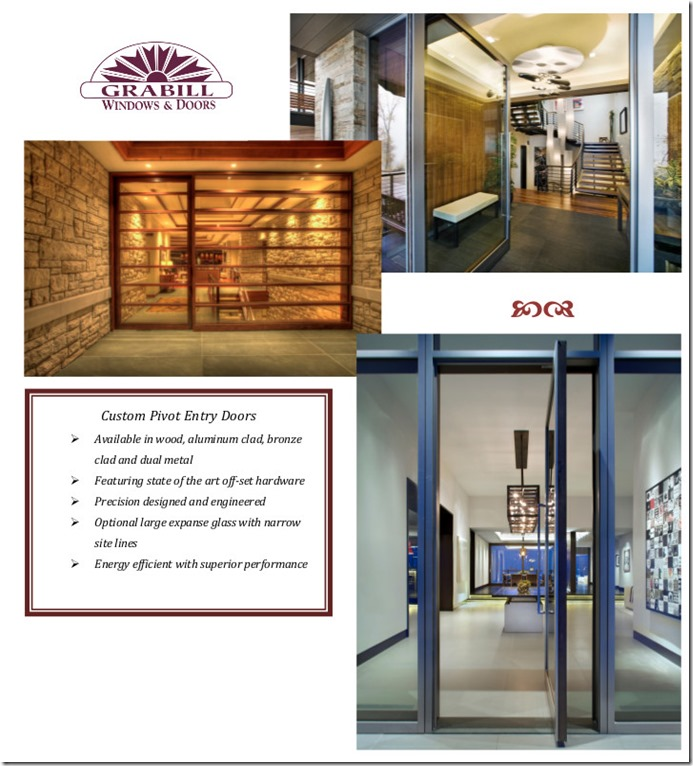 Custom Pivot Entry Doors