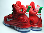 nike lebron 9 gr christmas 7 04 Throwback Thursday: Look Back at LBJs 2011 Christmas Shoes
