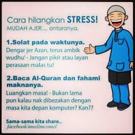 Cara Hilangkan Stress Yang Mudah !