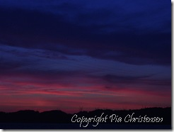Solnedgang Hindsgavl 29. juli 2011