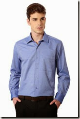 Trendin : Buy Peter England Textured Slim Fit Formal Shirt  at Rs. 599 only