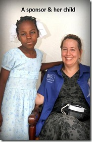 Melissa and her sponsored child tagged