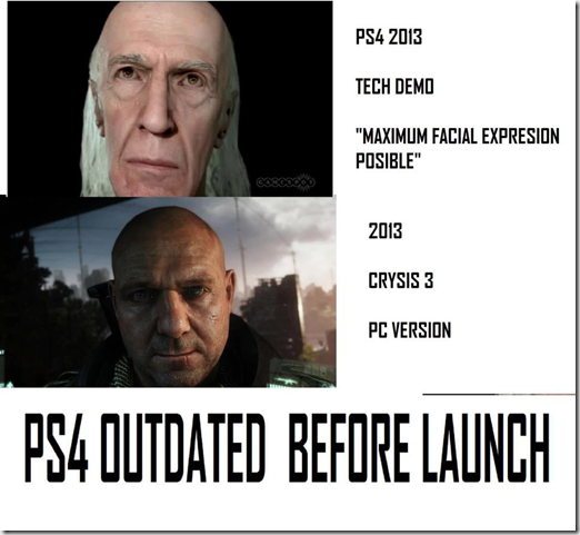 Criysis - Pc vs ps4