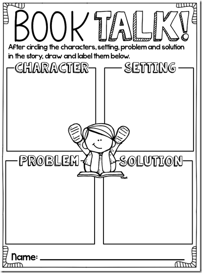 Book chat sheet, story structure