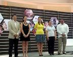 con autoridades y 1ª dama de Quintana Roo