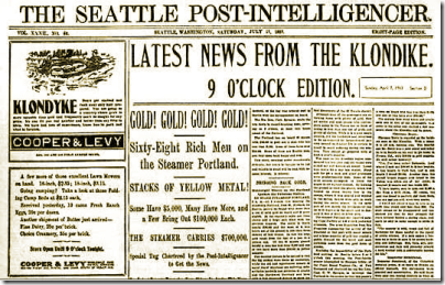 Gold! Gold! Gold! Gold! - The Seattle Post-Intelligencer